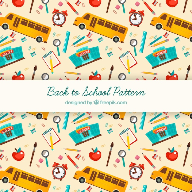 Back to school seamless background pattern Free Vector