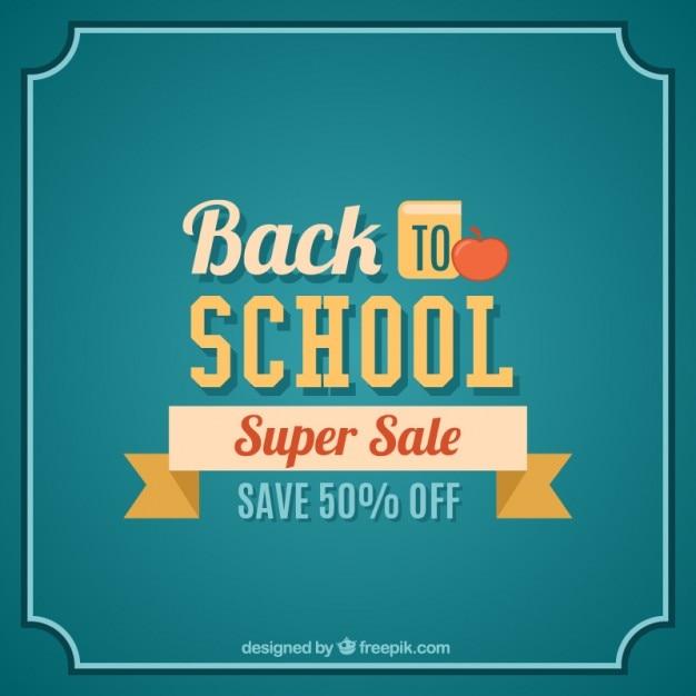 Back to school super sale lettering vector premium download