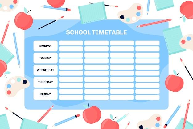 Вернуться к шаблону школьного расписания Premium векторы
