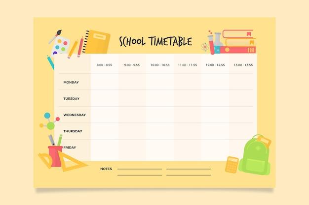 Вернуться к школьному расписанию Бесплатные векторы