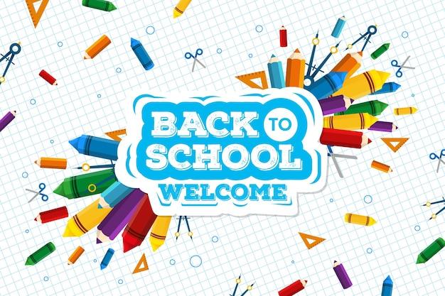 学校の壁紙コンセプトに戻る Premiumベクター