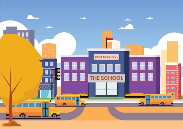 学校に戻る Premiumベクター