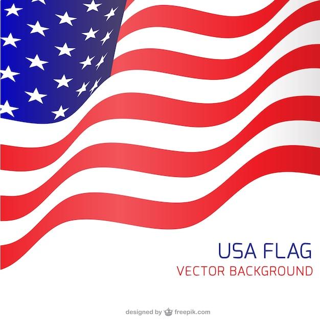 Сша флаг развевался backgound Бесплатные векторы