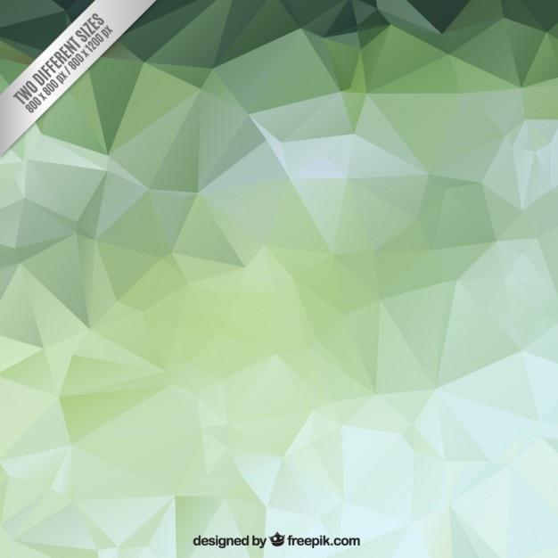 Зеленый многоугольной backgound Бесплатные векторы