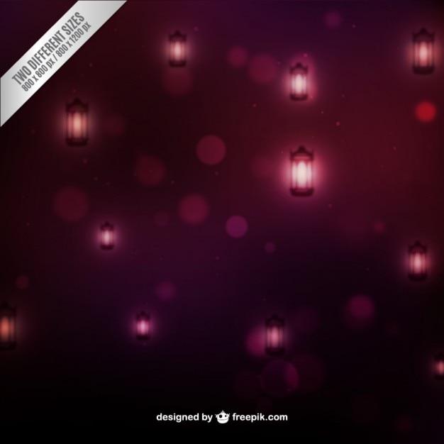ランプと紫色のボケbackgound 無料ベクター