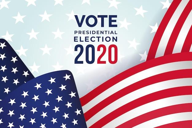 Sfondo per le elezioni presidenziali americane del 2020 Vettore gratuito