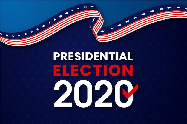Background of 2020 us presidential election Free Vector