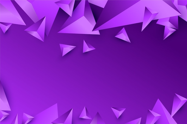 Background 3d triangle design in vivid violet tones Free Vector