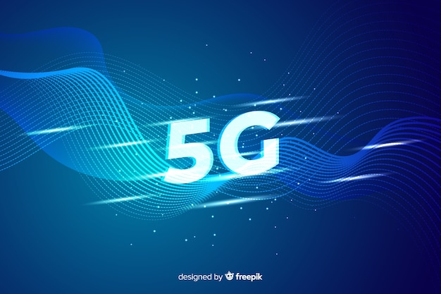 Background 5g concept Free Vector