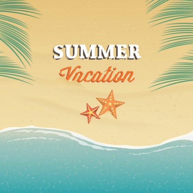 Vacanza sfondo estate Vettore gratuito