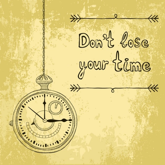 Background about time Free Vector