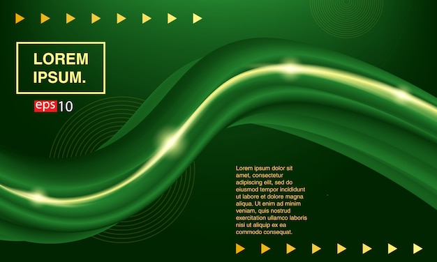 Background abstract fluid. banner green fluid. Premium Vector