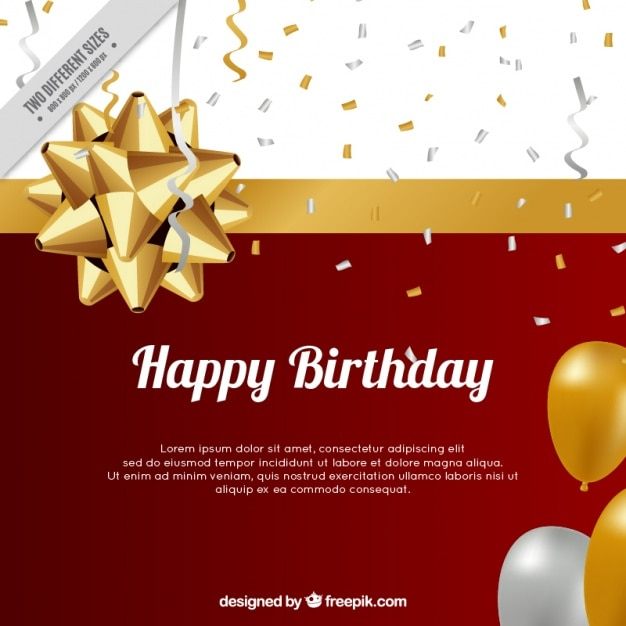 Background of balloons and birthday confetti Premium Vector