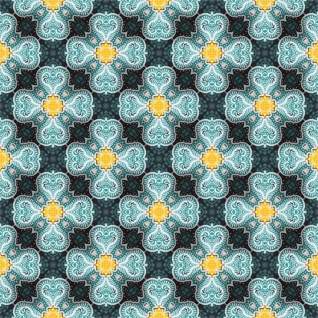 Background of batik pattern, batik indonesian Premium Vector