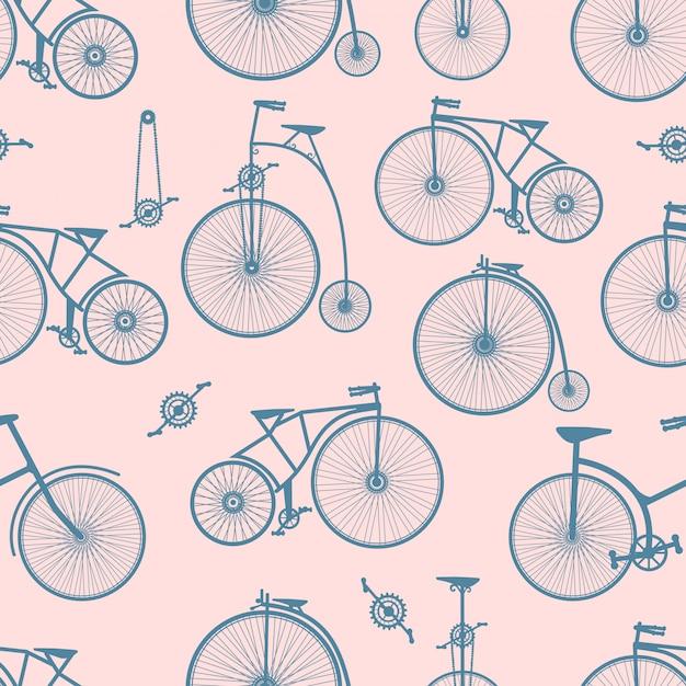 Background bicycle seamless Premium Vector