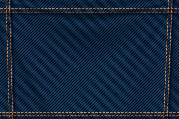 Background blue denim Premium Vector