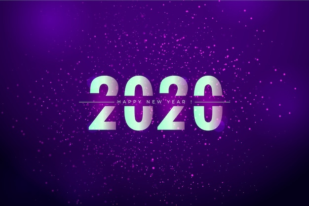 Background blurred new year Free Vector