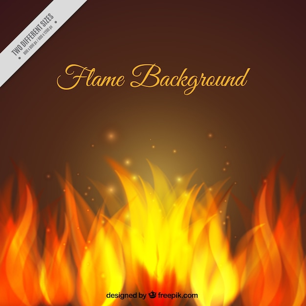 Background of bright flames Free Vector