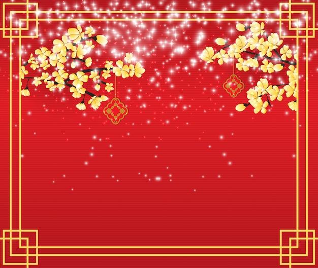 Background celebrating the chinese new year. Premium Vector