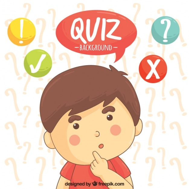 Background of child thinking an answer Free Vector