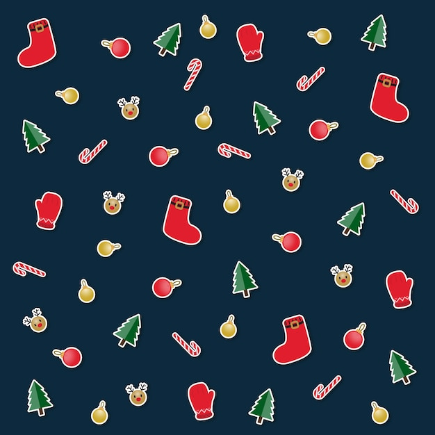 background christmas tree decoration new year party theme premium vector