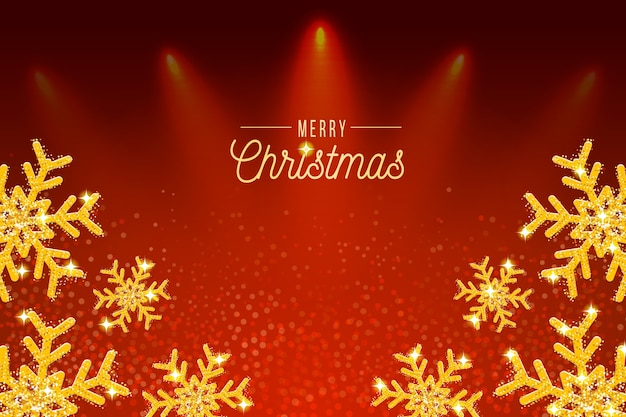 Background christmas with glitter effect Free Vector