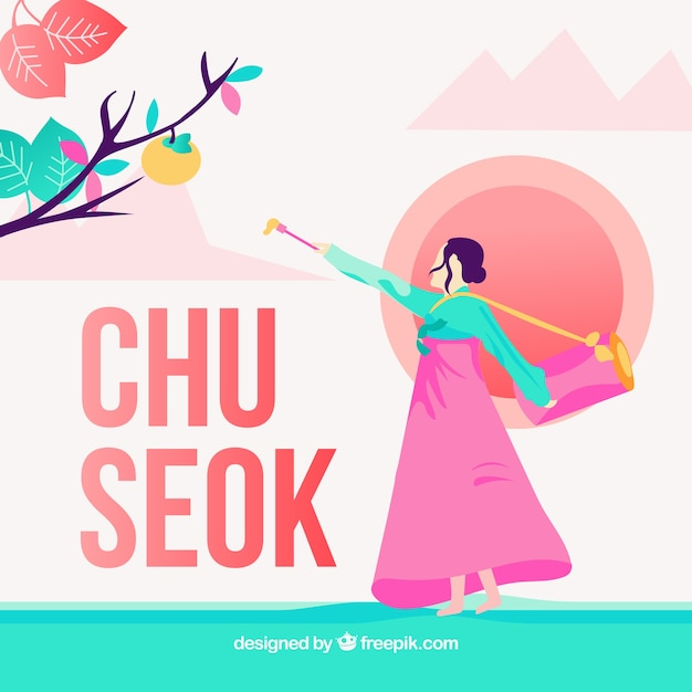 Background for chuseok festival Free Vector