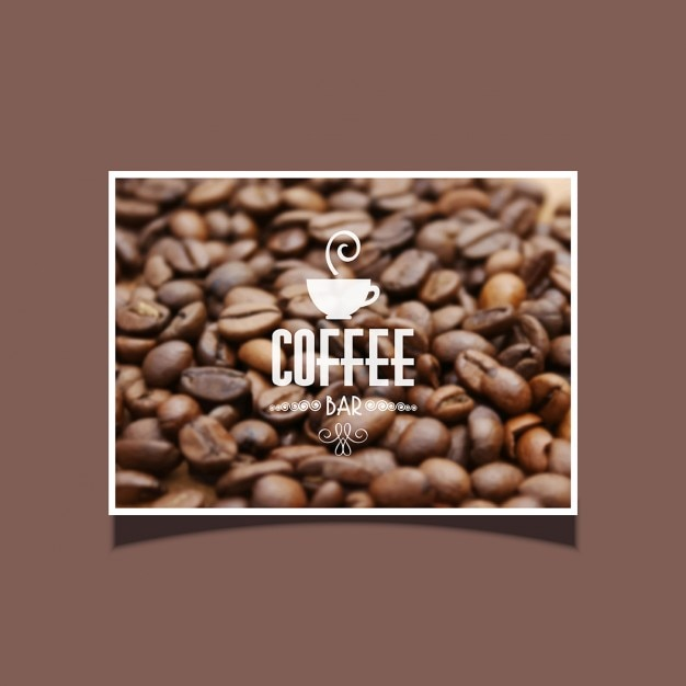 Background of coffee beans ideal for cafe bar Free Vector