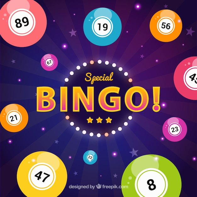 Background of colorful bingo balls Free Vector