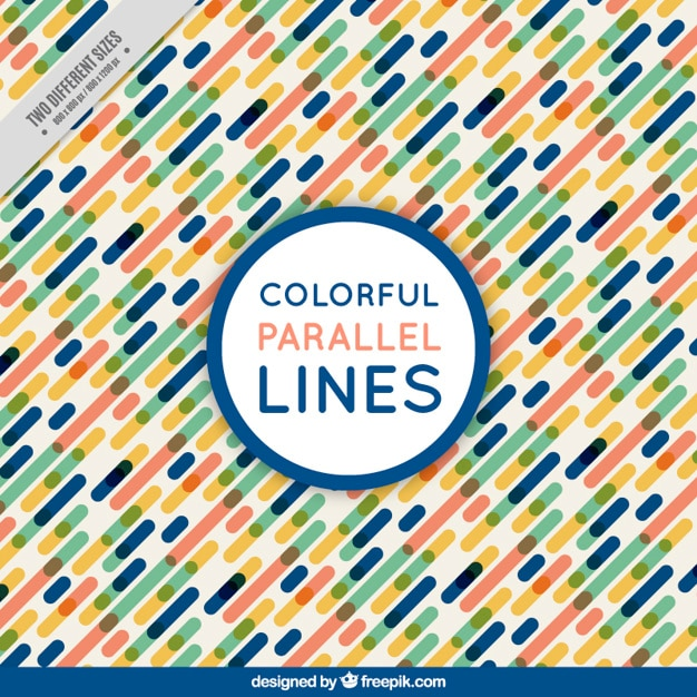 Background of colorful parallel lines Free Vector