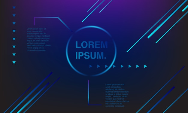 Background colorful play button. colorful banners. plastic and geometric shape. Premium Vector