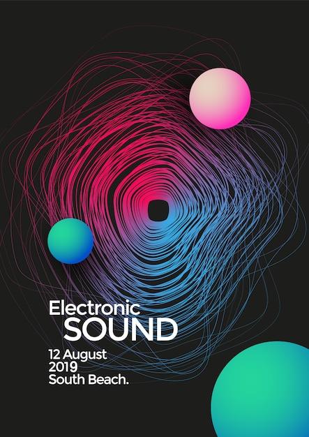 Background of colorful sound wave line gradual change activity Premium Vector