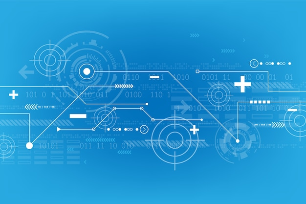 Background in the concept of technology. Premium Vector