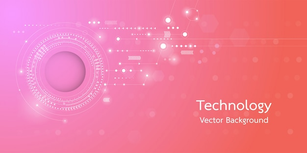 Background conceptual image of digital 3d technology. Premium Vector