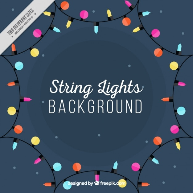 Background of decorative lights Free Vector