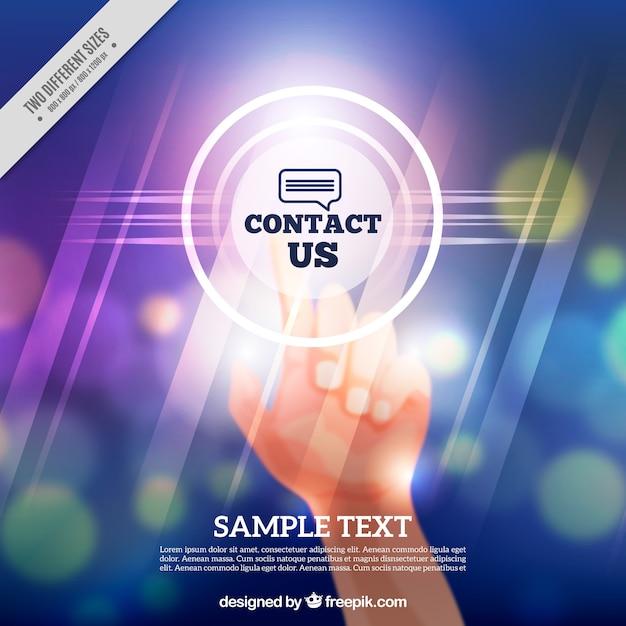 Background defocused bokeh contact Free Vector