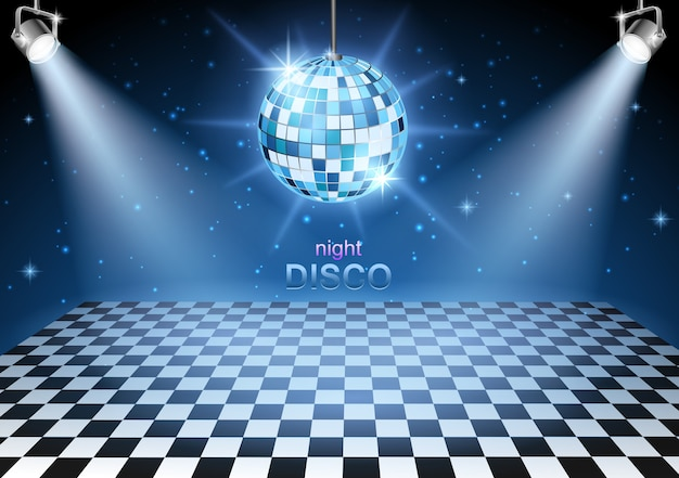 Background disco party Premium Vector
