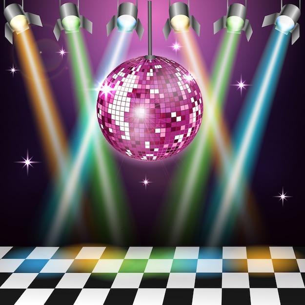 Background disco party Premium Vector