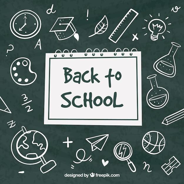 Background drawings on the blackboard