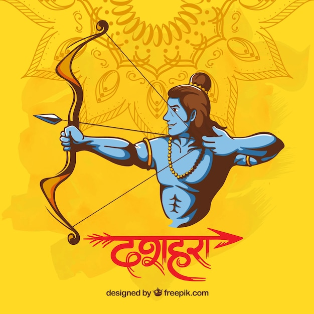 Background for dussehra festival Free Vector