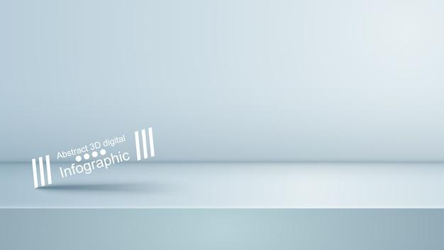 Background empty white studio, photostudio, room Premium Vector