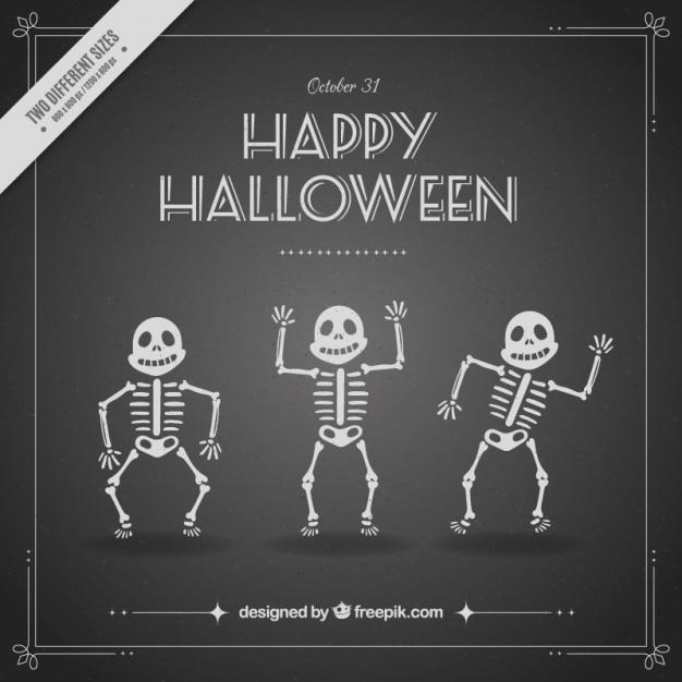 Background of enjoyable skeletons Free Vector