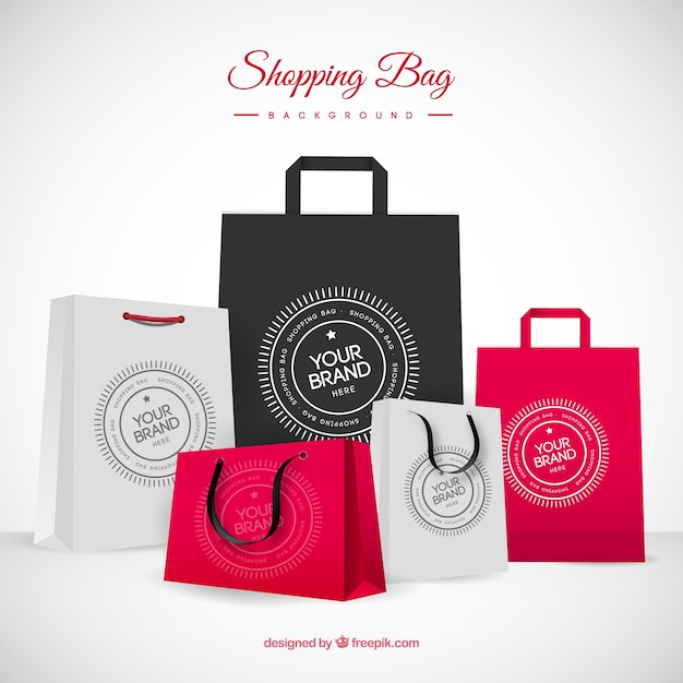 Background of fashion bags Free Vector