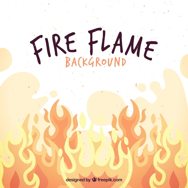 Background of fire flames Free Vector