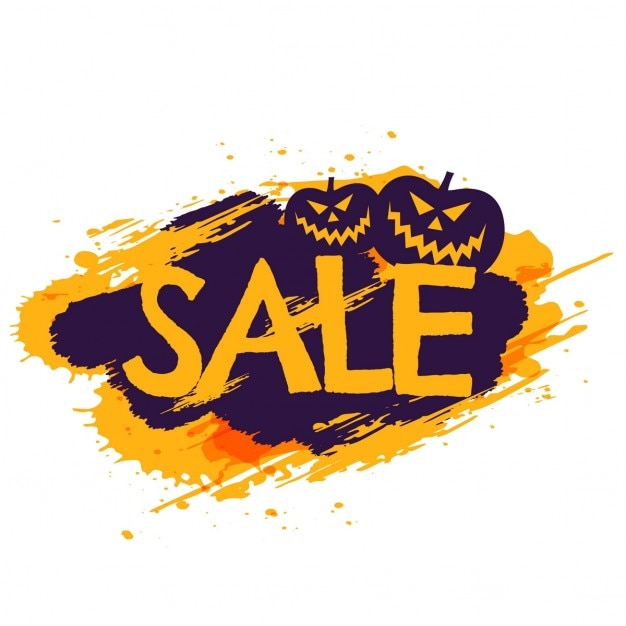Background for halloween sales Vector | Free Download