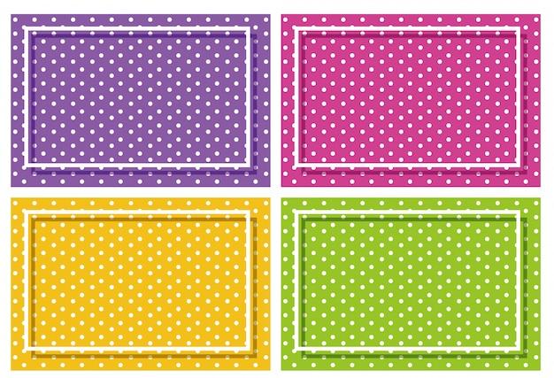 Background frame with polka dot design Free Vector