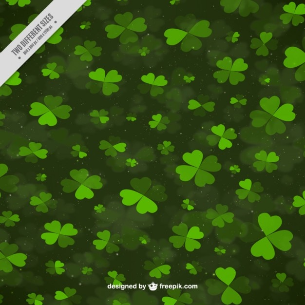 Background full clovers  Free Vector