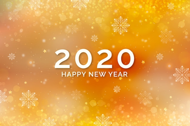 Background golden new year Free Vector