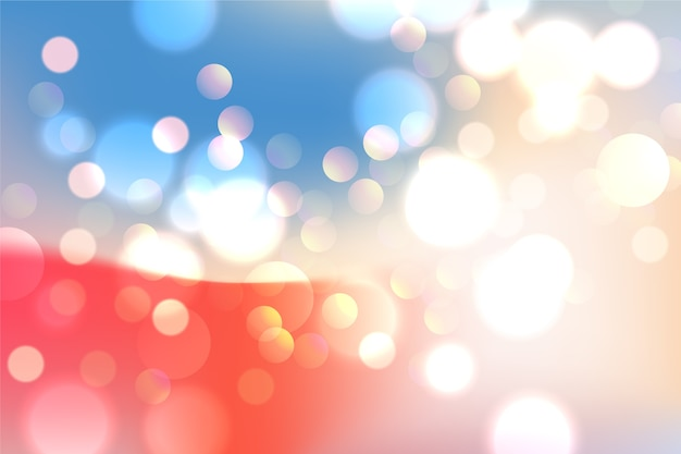 Background gradient with bokeh effect Free Vector