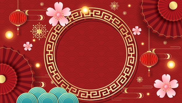 Background graphics for the chinese festival Premium Vector